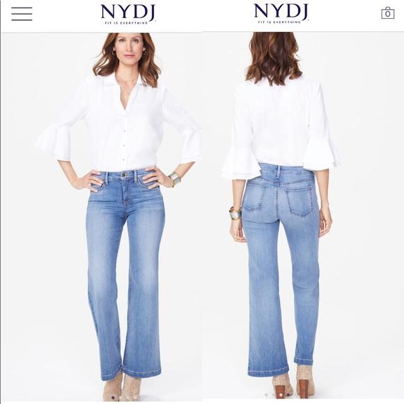 NYDJ Denim - NWT NYDJ Wide Leg Trouser Jeans $119